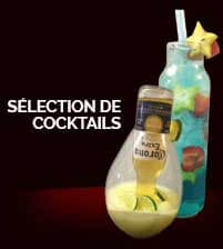 Sélection de cocktails de Burger Shop